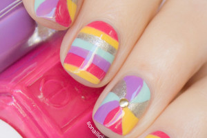 Nail , 6 Swirl Nail Designs : Fun Swirl Nails Design