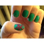 Fun scotch tape nail design , 6 Scotch Tape Nail Designs In Nail Category