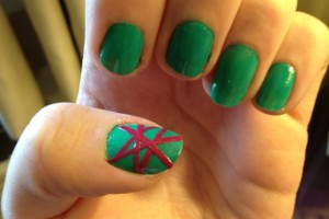 Nail , 6 Scotch Tape Nail Designs : Fun scotch tape nail design
