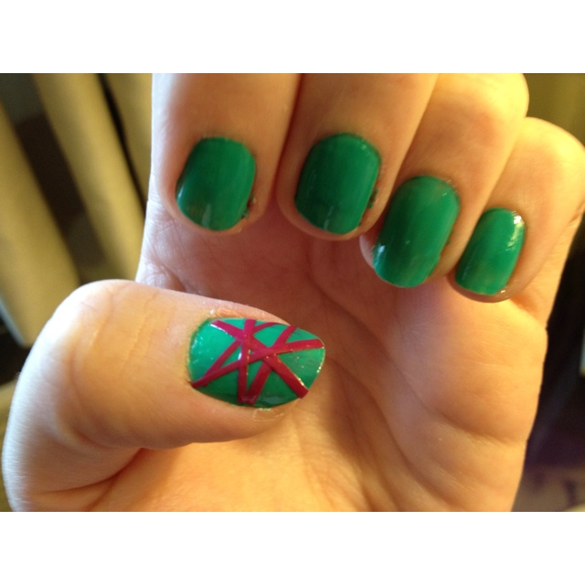 Astounding Diy Nail Art Designs Using Scotch Tape: Fun Scotch Tape Nail Design : Woman Fashion