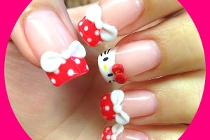 Nail , 6 Hello Kitty Nail Designs : Hello Kitty inspired nails
