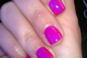 Nail , Shellac Nail Design Ideas : Lipgloss Shellac nail art ideas