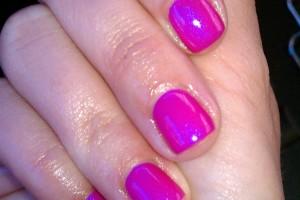 Nail , Shellac Nail Design Ideas : Lipgloss Shellac nail art ideas