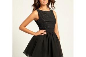 Fashion , 10 Little Black Homecoming Dresses : Little Mistress Black Embellished Prom Dress