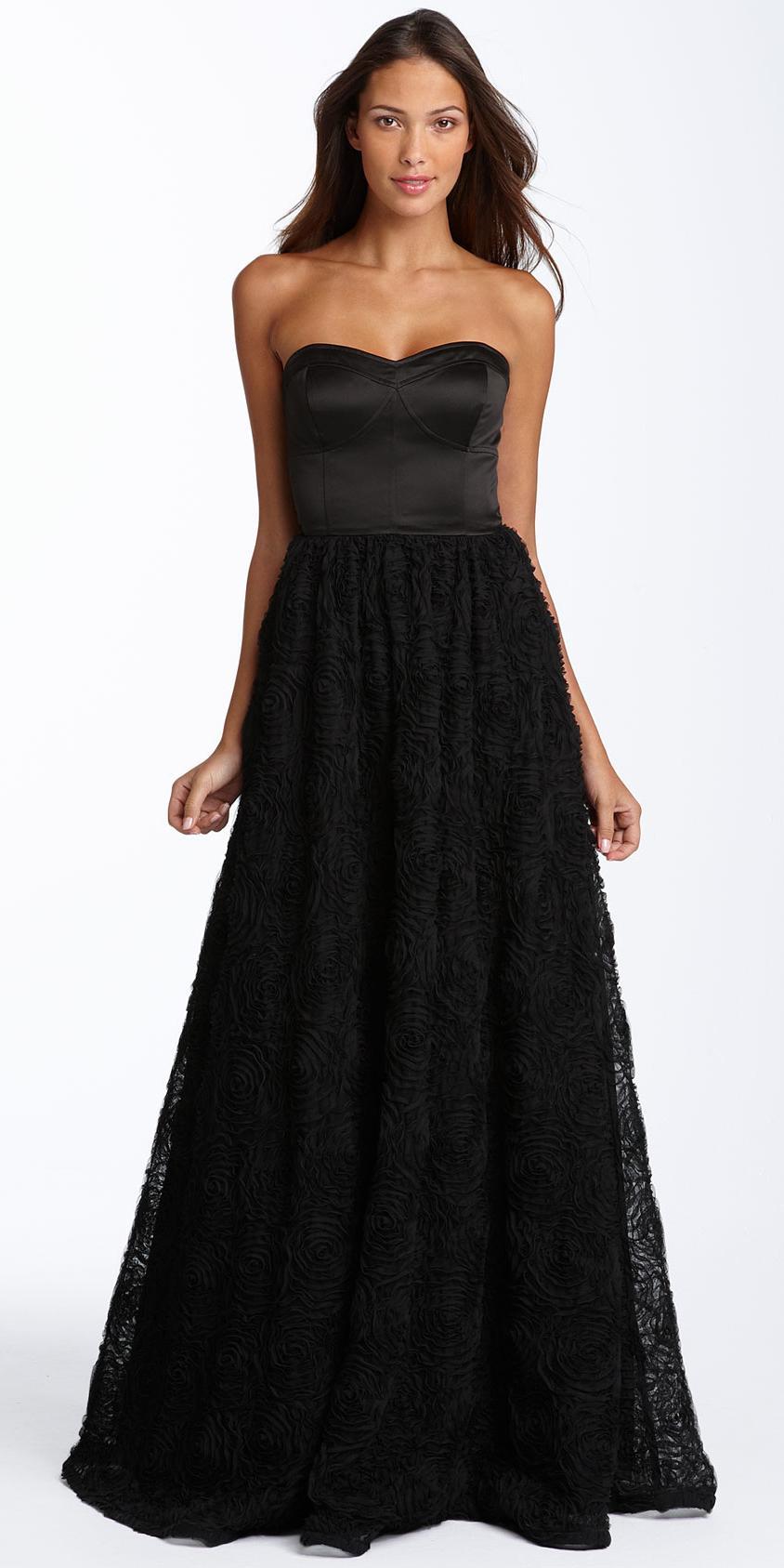 Images of Womens Long Black Dress - Reikian