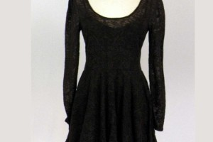 1300x1300px 9 Black Lace Dress With Long Sleeves Picture in Fashion