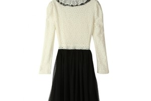Fashion , 6 Black And White Long Sleeve Dress : Long Sleeve Lace Black and White Dress