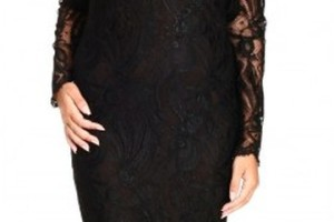 361x600px 9 Black Lace Dress With Long Sleeves Picture in Fashion