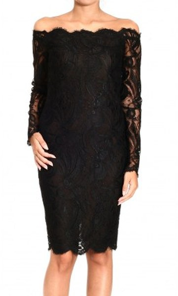 Fashion , 9 Black Lace Dress With Long Sleeves :  Long Sleeve Lace Dress Black