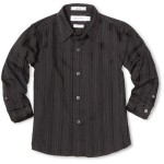 Long Sleeve Woven Dress Shirt in Black , 5 Boys Long Sleeve Black Dress Shirt In Fashion Category