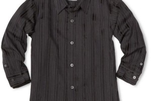 Fashion , 5 Boys Long Sleeve Black Dress Shirt : Long Sleeve Woven Dress Shirt in Black
