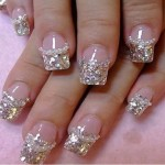 Luxury Silver Acrylic Nail Art , 6 Prom Nail Designs In Nail Category