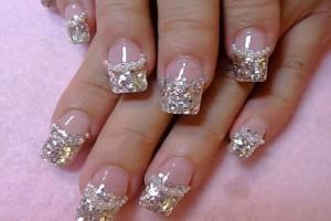 Nail , 6 Prom Nail Designs : Luxury Silver Acrylic Nail Art