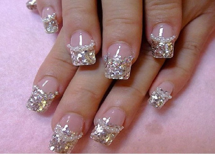 Luxury silver acrylic nail art 6 prom nail designs woman large 700 x 500 prinsesfo Gallery