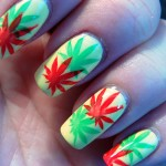 Marihuana in rasta colors , 6 Rasta Nail Designs In Hair Style Category