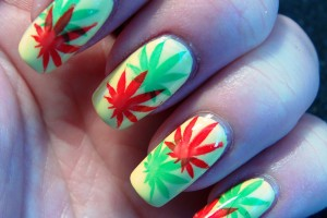 Hair Style , 6 Rasta Nail Designs : Marihuana in rasta colors