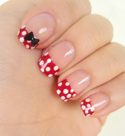 5 Minnie Mouse Nail Art in Nail