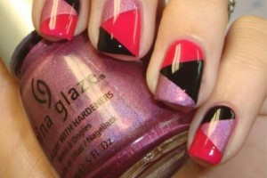 Nail , 6 Scotch Tape Nail Designs : Nail Art Ideas Using Scotch Tape