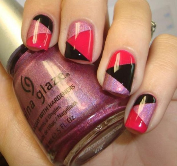Nail art ideas using scotch tape 6 scotch tape nail designs large 620 x 580 prinsesfo Image collections