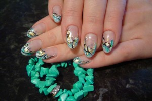 1024x768px 6 Turquoise Nail Designs Picture in Nail