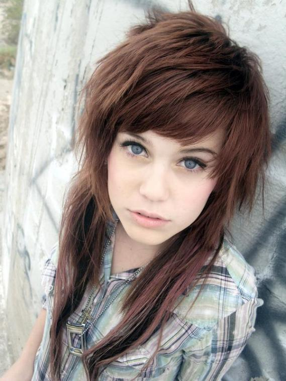 6 Emo Hairstyles For Girls With Brown Hair in Hair Style
