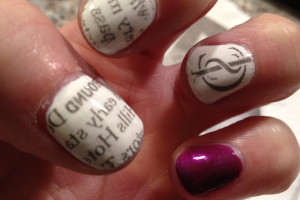 Nail , 7 Newspaper Nails Designs : Newspaper Nail Designs