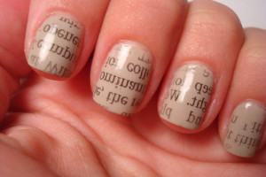 Nail , 7 Newspaper Nails Designs : Newspaper nails fashion