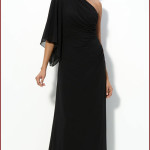 One Shoulder Chiffon Black Long Dress , 9 Pictures Of One Shoulder Long Black Dress In Fashion Category