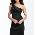 One Shoulder Sheath little black dress , 9 Styles Of One Shoulder Little Black Dress In Fashion Category