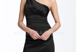 Fashion , 9 Styles Of One Shoulder Little Black Dress : One Shoulder Sheath little black dress