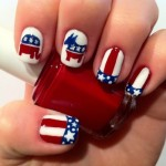 Patriotic With Red White & Blue Nail Art Designs , 6 Patriotic Nail Art Designs In Nail Category