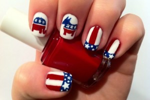 Nail , 6 Patriotic Nail Art Designs : Patriotic With Red White & Blue Nail Art Designs