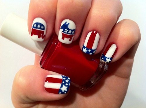 Patriotic with red white blue nail art designs 6 patriotic large 500 x 373 prinsesfo Image collections