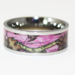 Pink Camo Wedding Rings For Her , Pink Camo Wedding Rings In Wedding Category