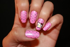 Nail , 6 Hello Kitty Nail Designs : Pink Hello Kitty Nail Designs