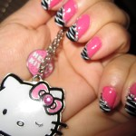 Pink and Black Zebra nail design , 6 Zebra Nail Designs In Nail Category
