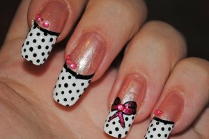 600x657px 8 Polka Dot Nail Designs Picture in Nail