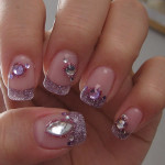 Purple Diamond Nail Art , 5 Nail Designs With Diamonds In Nail Category