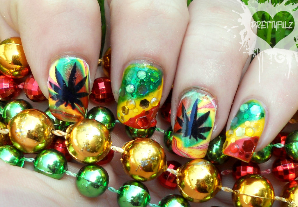 6 Rasta Nail Designs in Hair Style