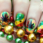 Rasta Deco Nail Art Design , 6 Rasta Nail Designs In Hair Style Category
