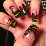 Rasta Nails with design , 6 Rasta Nail Designs In Hair Style Category
