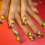 Rasta Nails with spiral , 6 Rasta Nail Designs In Hair Style Category