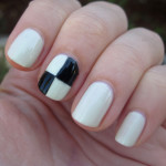 Scotch Tape Checkerboards , 6 Scotch Tape Nail Designs In Nail Category