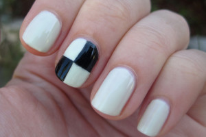Nail , 6 Scotch Tape Nail Designs : Scotch Tape Checkerboards