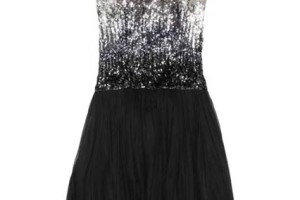 Fashion , 7 Little Black Sequin Dress : Sequin Flower Detail Dress