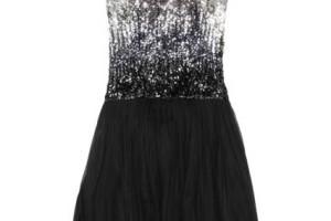 Fashion , 7 Little Black Sequin Dress : Sequin Flower Detail Dress