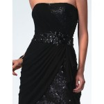 Sexy a line Strapless Sequin Pleated Little Black Dress , 7 Little Black Sequin Dress In Fashion Category