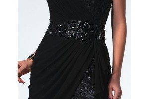 Fashion , 7 Little Black Sequin Dress : Sexy a line Strapless Sequin Pleated Little Black Dress