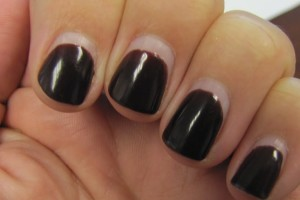 Nail , 6 Shellac Nail Designs : Shellac black Nails polish