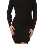 Solid boat neck long sleeve sweater dress , 10 Long Sleeve Black Sweater Dress In Fashion Category